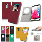 Card Pocket Quick Window View Flip Leather Wallet Case Cover For LG G2 / G3 / G4