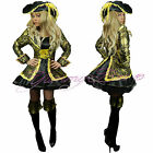 Pirate Fancy Dress Costume Ladies Womens Outfit Captain Womens Plus Size Adult