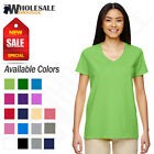 NEW Gildan Women's Heavy Cotton Short Sleeves Ladies  V-Neck T-Shirt MG500VL