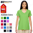 NEW Gildan Women's Heavy Cotton Short Sleeves Ladies  V-Neck