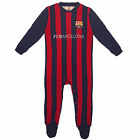 FC Barcelona Official Football Gift Home Kit Baby Sleepsuit (RRP £14.99!)
