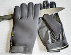 Anti-cut/slash gloves, SIA Security Doorman Bouncer Neoprene with Leather palm
