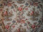 Lee Jofa fabric remnant for craft Oriental novelty Yangtze Print multiple colors