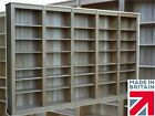 Solid Oak Library Bookcase, 7ft x 11ft Heavy Duty Shelving Unit, Bookshelves