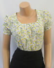 New Ladies Vtg 1930's 40's Wartime Ditsy Floral Button Back  Blouse