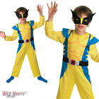 FANCY DRESS COSTUME ~ BOYS MARVEL WOLVERINE CLASSIC AGES 3-8