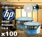 A+ Grade Quality HP CD-R Full Inkjet Printable Blank CD Discs Media 700MB 52X