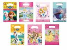 6 PARTY LOOT BAGS - Range of DISNEY PRINCESS Designs (Kids/Birthday/Gift)