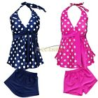Girls Baby Tankini Swimsuit Bikini Swimwear 8-16Y Kid Swimming Costume Beachwear