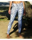 Graffiti Beasts Sports Yoga Running Gym Print Leggings Pants Black/White