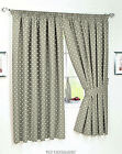 BEIGE POLKA DOT UNLINED KITCHEN  CURTAINS NICE QUALITY PAIR WITH TIEBACKS.