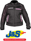 FRANK THOMAS FTW707 GALAXY LADIES MOTORCYCLE JACKET WOMENS MOTORBIKE PINK J&S