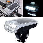 New Bike Bicycle 4 LED Solar & USB 2.0 Rechargeable Front Head Light Headlight