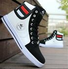 Mens Round Toe High Top Sneakers Casual Lace Up Skateboard Fashion Shoes Cool