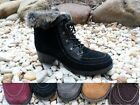 SPORTO WATER RESISTANT SUEDE LEATHER BOOTS LACE UP WINTER FALL CHUNK HEEL  HOLLY