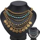 Ethnic Tribal Boho Coin Necklace Dance Bohemian Festival Gypsy Jewelry ItS7