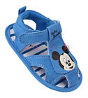Soft Sole Baby Boy Mickey Mouse Sandals Crib Shoes Size Newborn to 18 Months