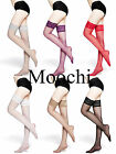 Moochi Women Sexy 20D Sheer Thigh High Stockings with silicone lace top