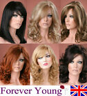 Ladies Long Wig Blonde Black Brown Red Wig Straight Curly Style Fashion Wigs