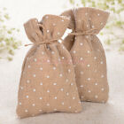 Rustic Burlap Gift Bags Jewelry Candy Pouches Hessian Wedding Favors 12/24/60PCS