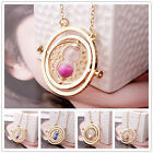 Time Turner Necklace Hermione Granger Rotating Spins Gold Hourglass Pendant Chic
