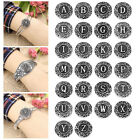 "1PC Snap Button Fit Snap Bracelet Letter   """" Branch 18.5mm"
