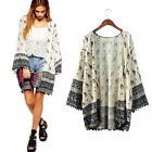 Fashion Pattern Women Blouse Summer Casual Kimono Cardigan Beach Cover Up Tops