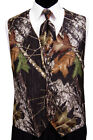 Mossy Oak Tuxedo Vest with Long Tie