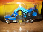 MAISTO 1/64 FORD? F350? 450? BLUE TRUCK WITH FLATBED & BLUE TRACTOR
