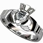 Size 5-10 Stainless Steel Claddagh Ring Wedding Engagement Celtic Heart Tribal