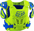 2016 Fox MX Raptor Armour - Blue / Yellow Motocross Roost Race Trail Offroad