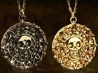 New Cursed Aztec Coin Medallion Pendent Pirates Of The Caribbean Chain Necklace