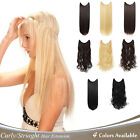 """OneDor 20""""/24"""" Curly/Striaght Synthetic Hair extensions-Transparent wire/No clip"""