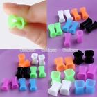 "Punk 6g-1/2"" Flexible Silicone Square Flared Ear Tunnel Plugs Expander Stretcher"