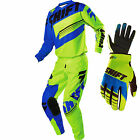 2016 Shift MX Mens Assault Gearset - Yellow/Blue Motocross Kit Offroad Trail