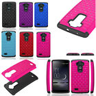 Rugged Hybrid Impact Bling Crystal Hard PC+Soft TPU Cover Case For LG Phone 2015