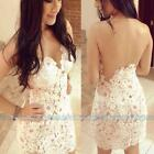 Fashion White Women Bandage Bodycon Lace Evening Sexy Party Cocktail Mini Dress