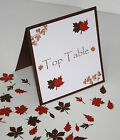 Handmade AUTUMN LEAVES :TABLE DECORATION Stationery;5 designs/60 colours/any qty