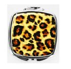 Leopard Skin fur pattern METAL COMPACT MIRROR beauty