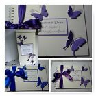 Handmade BUTTERFLY Wedding :POST BOX & GUEST BOOK ;2 designs / 60 colours