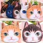 Funny Cute Cat 3D Face Purse Eyes Mini Coin Bags Zip Wallets Handbags Clutch S7