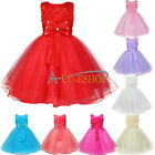 Lotus Flower Girl Princess Kids Party Pageant Wedding Bridesmaid Tutu Baby Dress
