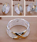 New fashion Women Ring Jewelry sterling silver plated copper Rings Size 6 7 8 9
