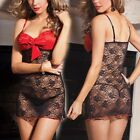 Floral Black Lingerie Red Top Babydoll Chemise Dress Underwear Plus 6 8 10 12 14