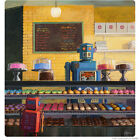 Robot Donut Shop Indecision Wall Decal Retro Sci-Fi Decor