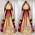 Hofadel Renaissance Medieval Party Cosplay Costume Dress Gown Cape Hoodie size