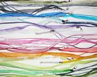 A 10 PCS Necklaces  Adjustable Organza Ribbon Color Variety Bulk Lot Mix