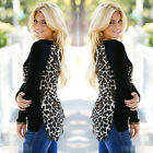 Women Sexy Ladies Long Sleeve Leopard Print T-Shirt Loose Chiffon Casual Blouse