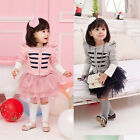 Jacket+skits Sets Girls 2PCS Outfits Princess Tutu Skirts Party Clothes Suit New