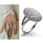 Fashion Women Wedding Ring Engagement Rings Crystal Rhinestone Jewelry Size 6-10